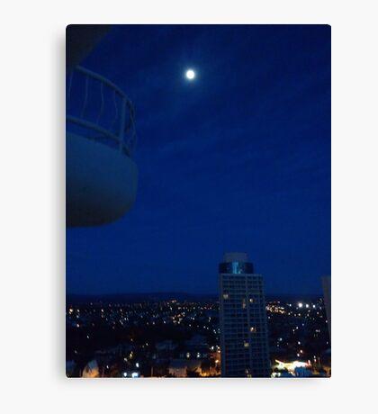 Highrise moon Canvas Print
