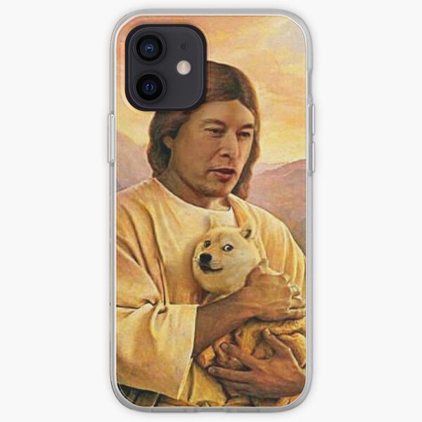 Elon holding Dogecoin    iPhone Soft Case