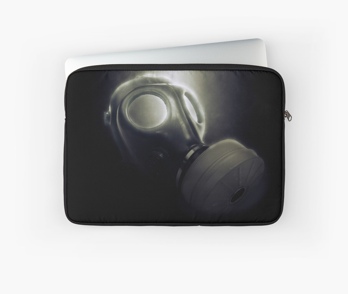 Digitally enhanced Gas Mask elevated side view by PhotoStock-Isra