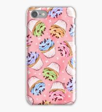 Colourful frosted cupcakes iPhone Case/Skin
