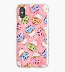 Colourful frosted cupcakes iPhone Case