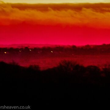 Arty farty sunset over northants  by bywhacky