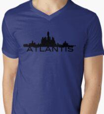 Atlantis Skyline Men's V-Neck T-Shirt