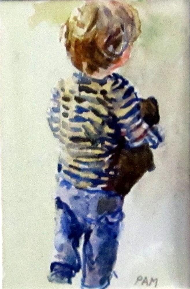 Boy and Teddy by pamfox