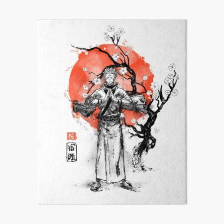 Sukuna at sakura tree Art Board Print