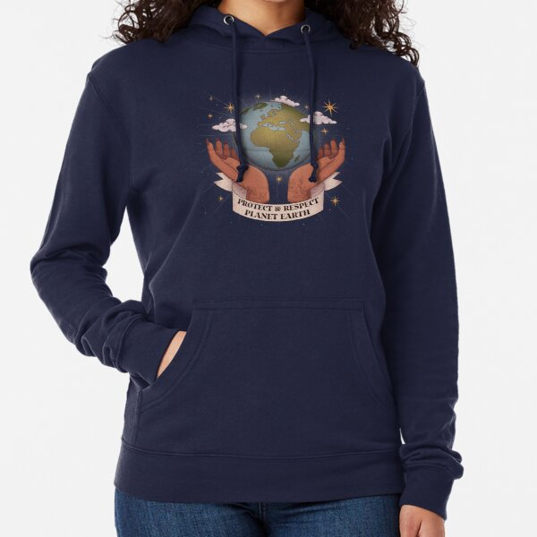 Protect and Respect Planet Earth Lightweight Hoodie