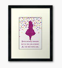 Pink glitter confetti bonkers Framed Print
