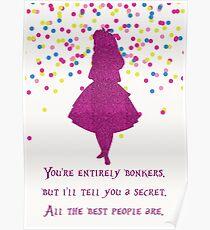 Pink glitter confetti bonkers Poster