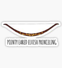 Pointy Eared Elvish Princeling Sticker