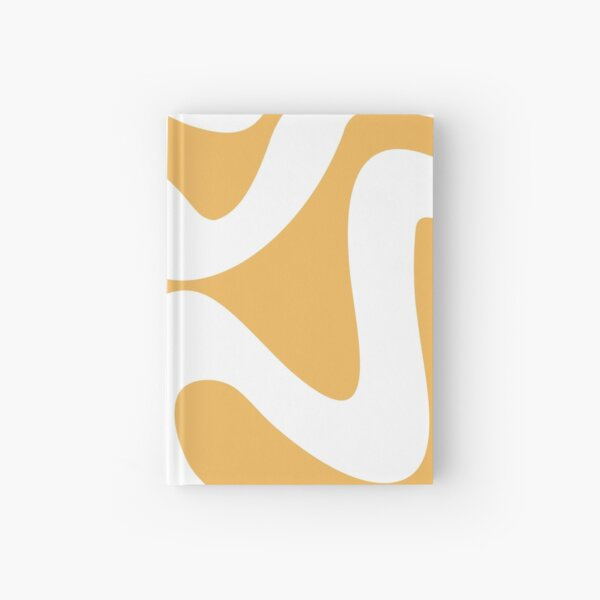 Abstract waves - yellow Hardcover Journal