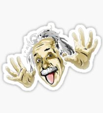 Albert Einstein Parody Sticker