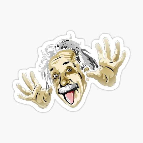 Albert Einstein Parody Sticker