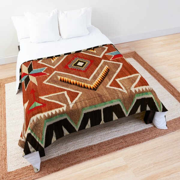 NAVAJO INDIAN WOVEN TAPESTRY MADE 1915  (turned) Comforter