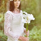 White Lace and Calla Lilies by Lynnette Peizer