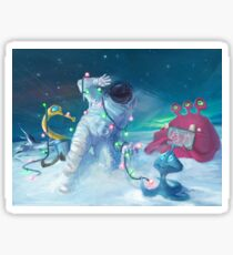 Alien Christmas traditions Sticker