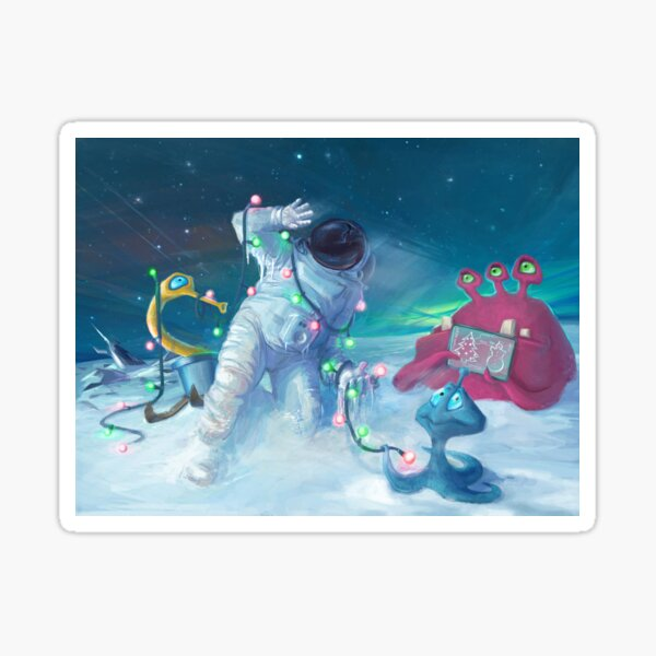 Alien Christmas traditions Sticker