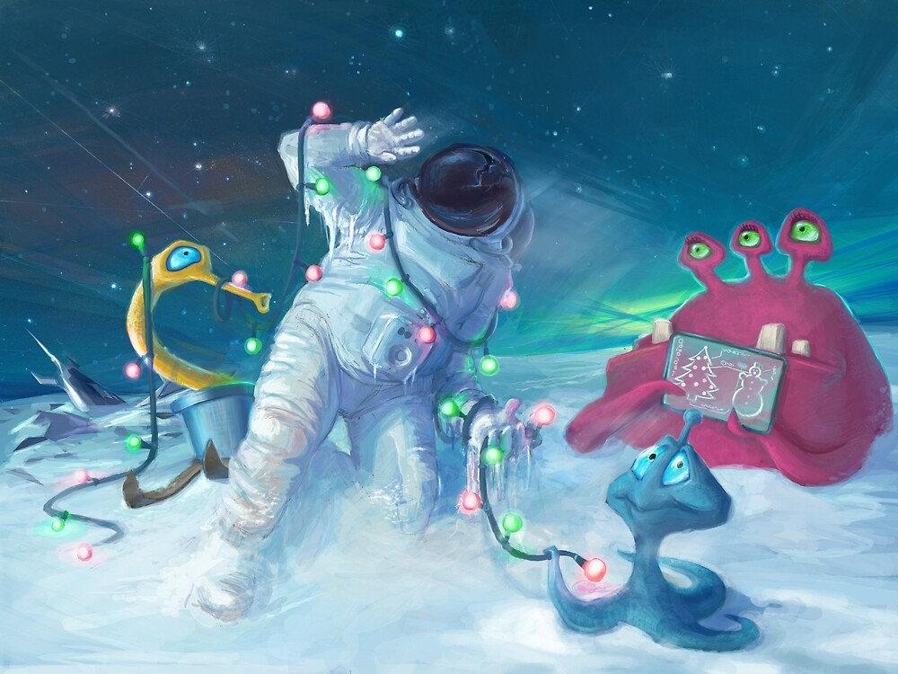 Alien Christmas traditions von Atelier Eyeling