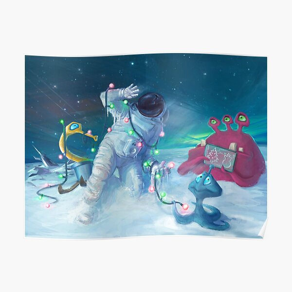 Alien Christmas traditions Poster