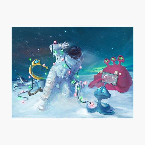 Alien Christmas traditions Fotodruck
