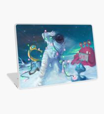 Alien Christmas traditions Laptop Skin