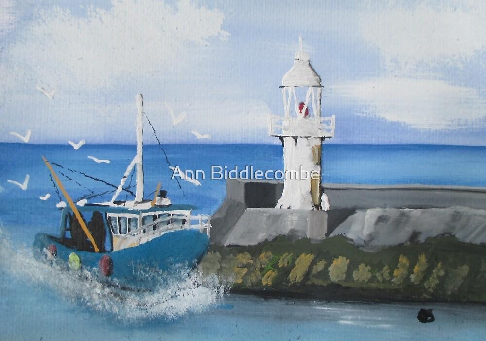 Brixham Trawler by Ann Biddlecombe