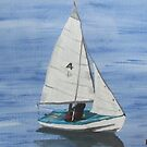 Sailboat Number 4 by Ann Biddlecombe