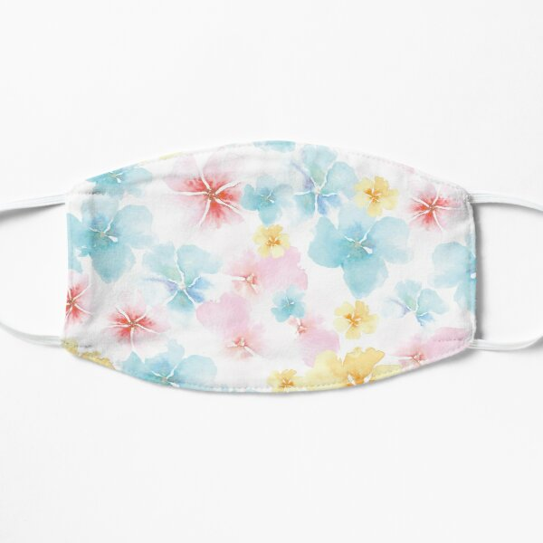 Watercolor Whimsy Flowers by Creative Bee Studios Flat Mask