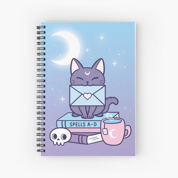 Black Magic Mail Kitten   Nikury Spiral Notebook