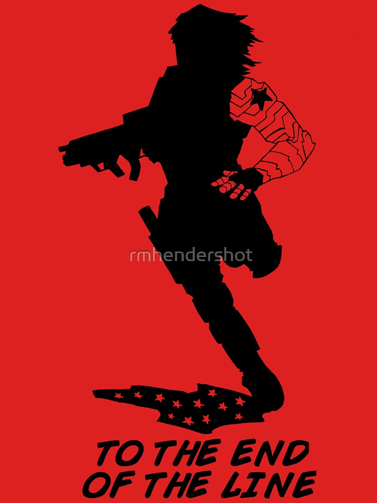 Winter Soldier - End of the Line - Silhouette (B) | Unisex T-Shirt