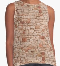STONE WALL, Rock and a hard Place, Rough, Tough, Hard, textures, Hit a brick wall Contrast Tank