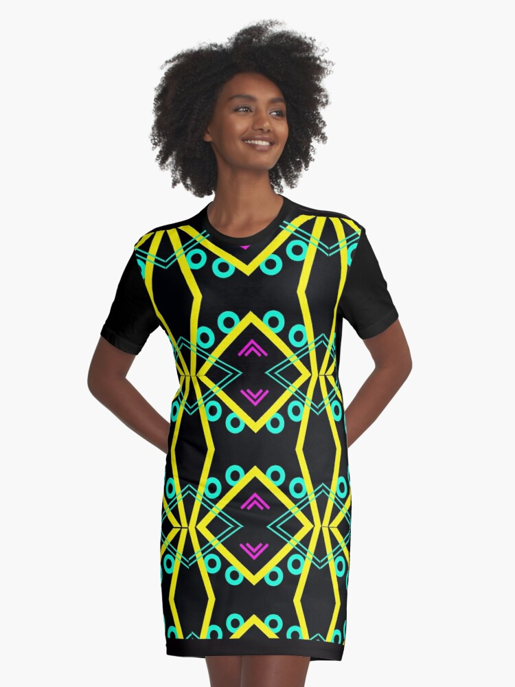 Cath Sola Geo 2 Graphic T-Shirt Dress Front