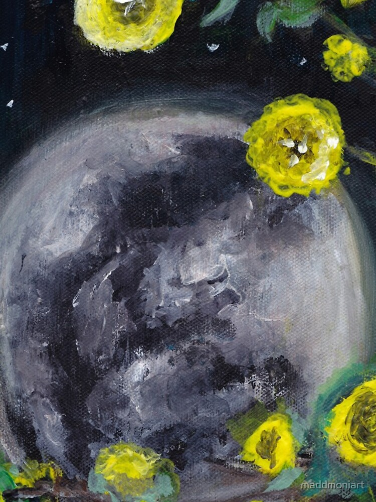 Moon & Flowers by maddmoniart
