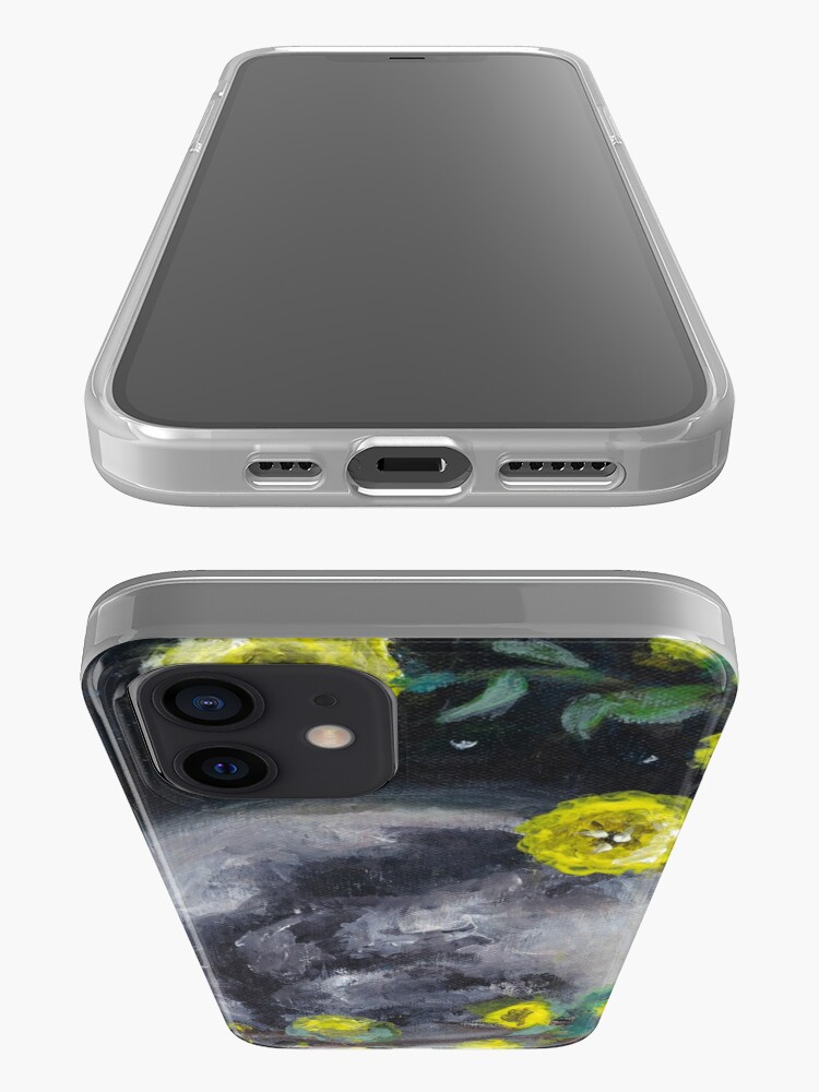 Alternate view of Moon & Flowers iPhone Case & Cover