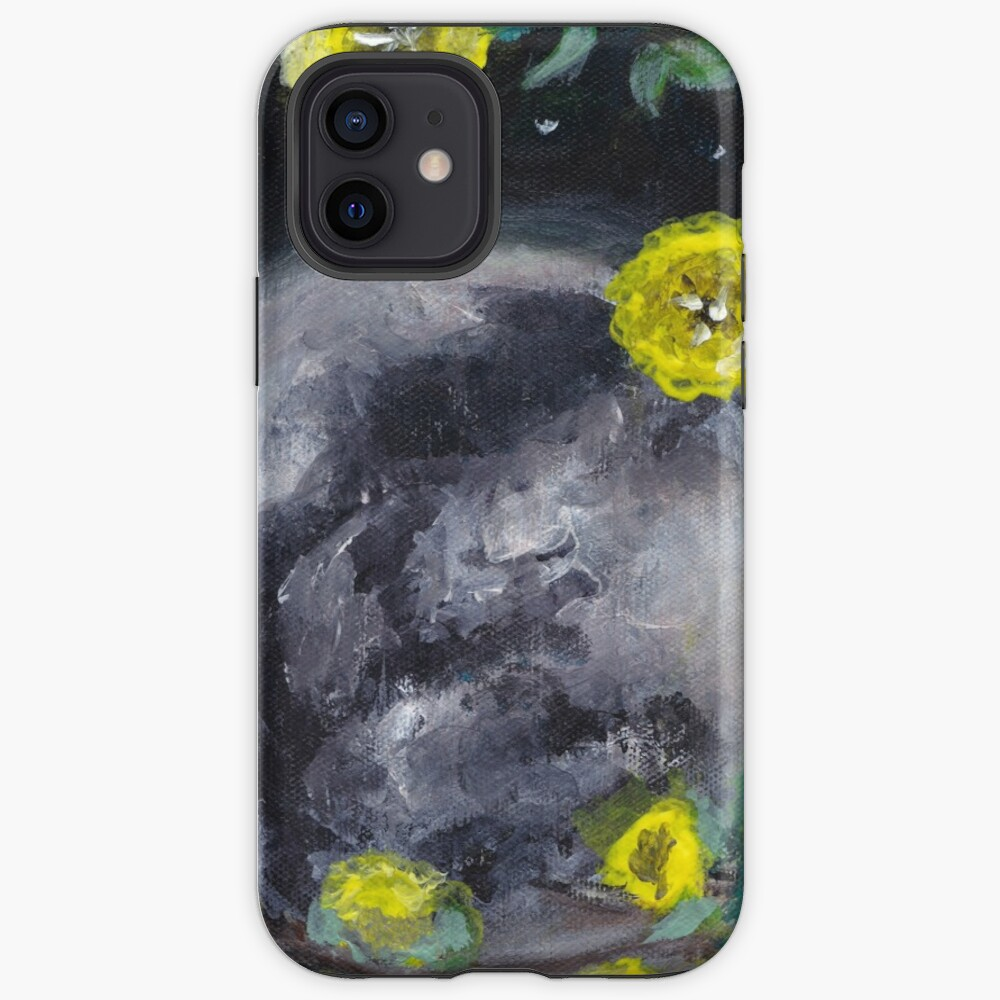 Moon & Flowers iPhone Case & Cover