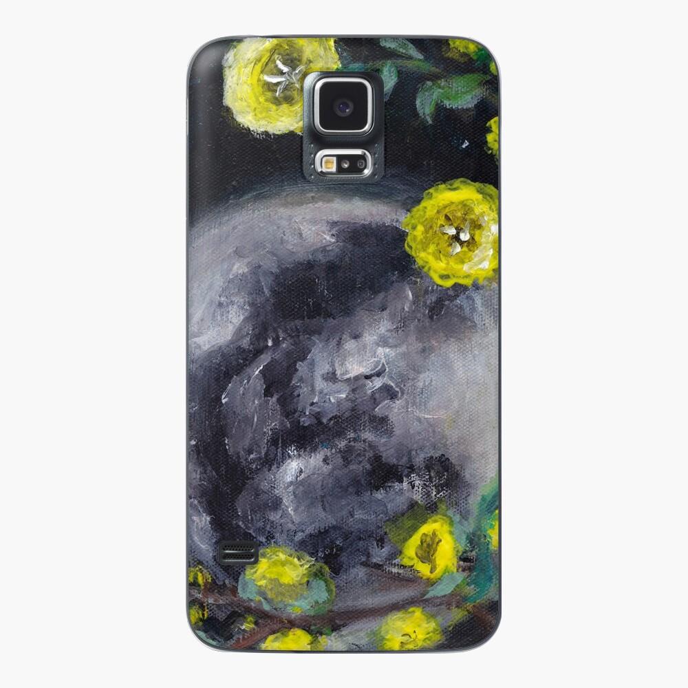 Moon & Flowers Case & Skin for Samsung Galaxy