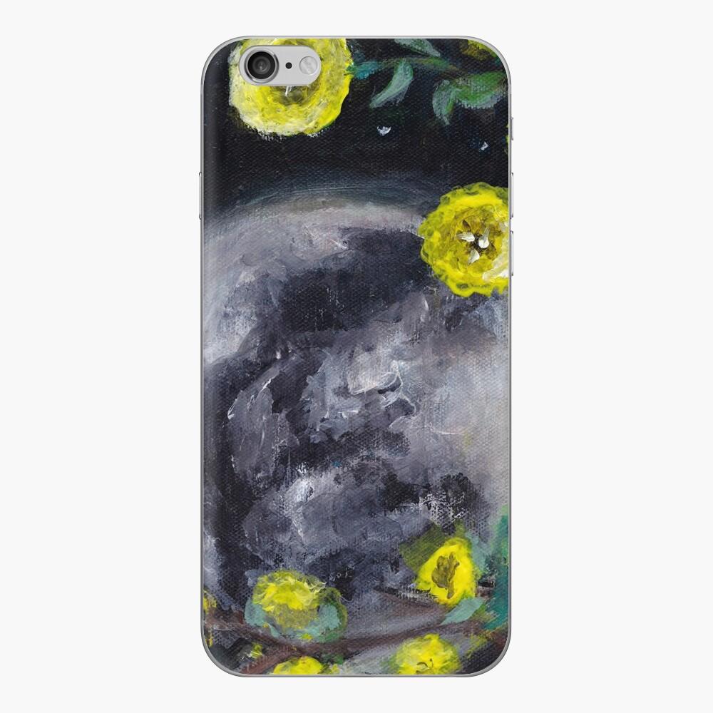 Moon & Flowers iPhone Skin