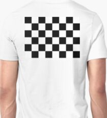Checkered Flag, Chequered Flag, Checkerboard, Pattern, WIN, WINNER,  Racing Cars, Race, Finish line, BLACK Unisex T-Shirt