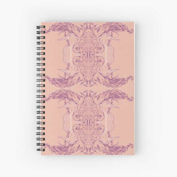 Feather of Her Eye Pattern  Spiral Notebook
