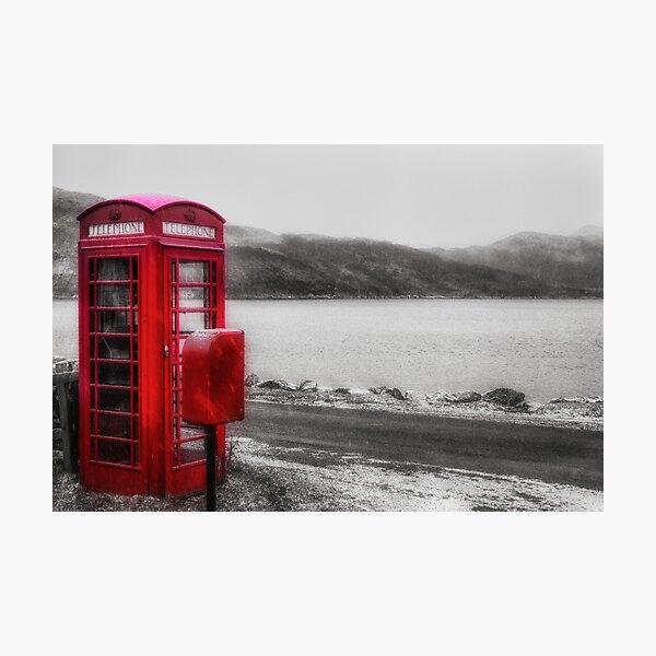 Old Red British Telephone Kiosk Photographic Print