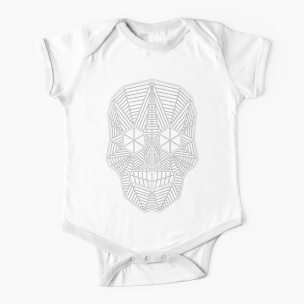 CY SHOP Candied Skull Drawing with Flowers Childrens Boys Girls Contrast Short Sleeve T-Shirt