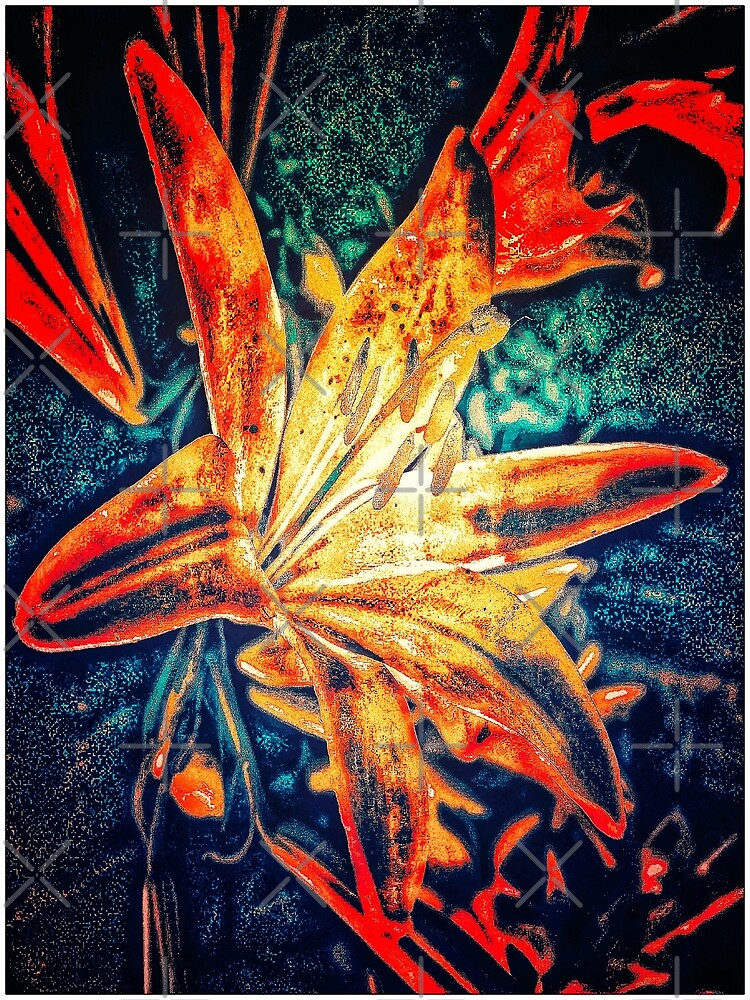 Red Lilly Flower by vaalaazdesigns