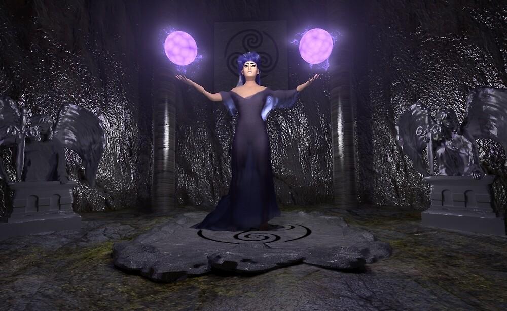 Lilac Sorceress by BrainwaveArt
