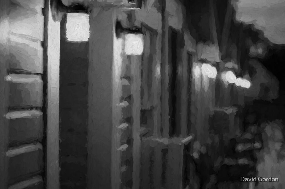 Rainy Night Motel II BW by David Gordon