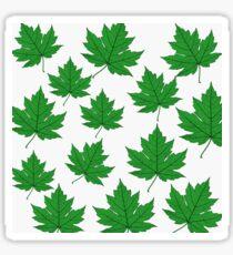 Green Leaves Sticker