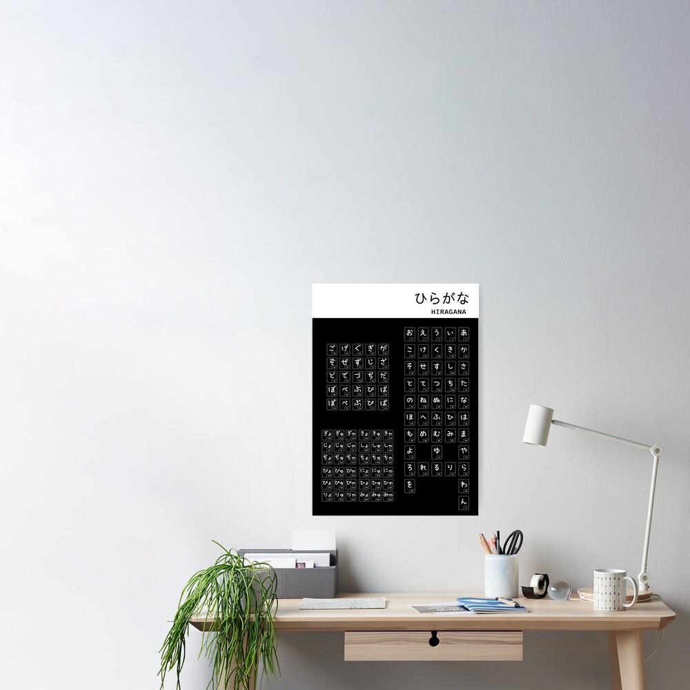 Poster «Graphique Hiragana»