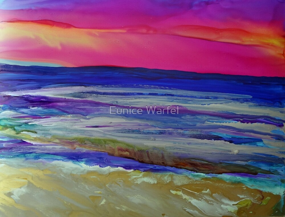 The Sea at Sunset by Eunice Warfel