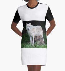 Remus and Romulus - Arctic Wolf Graphic T-Shirt Dress