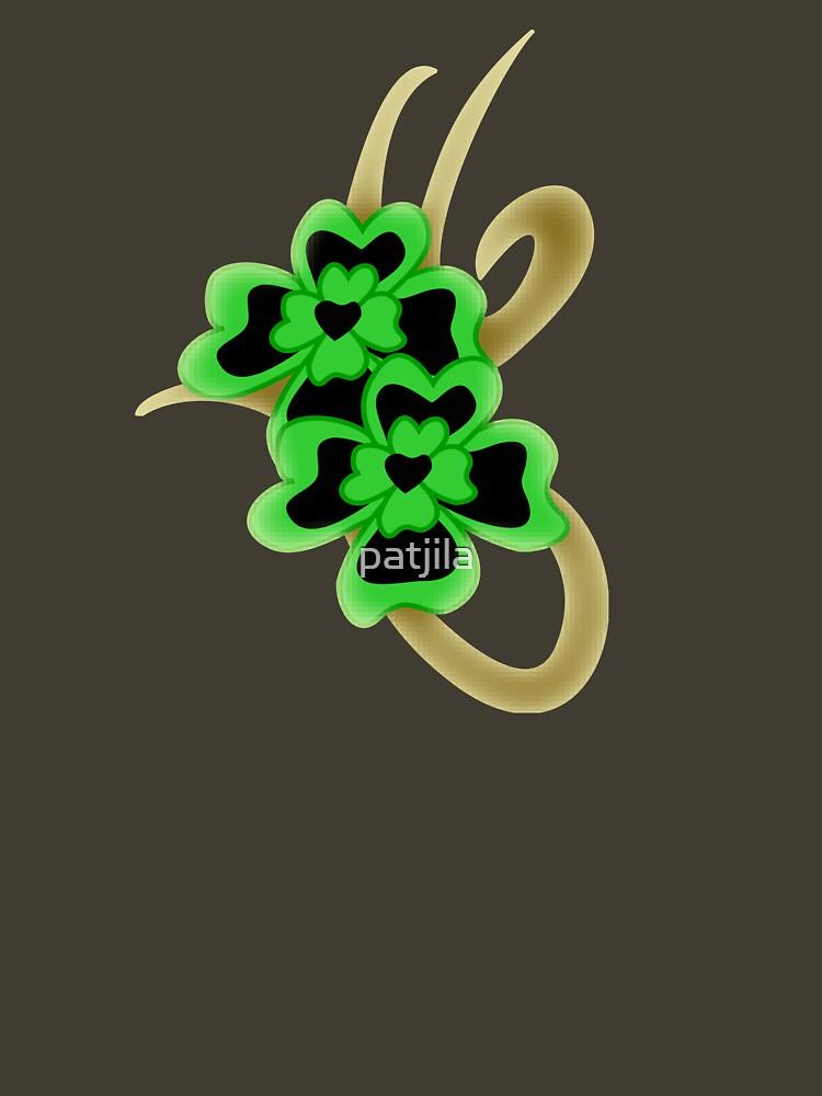 St. Patrick Golden Tribal Iconic Shamrock tattoo by patjila
