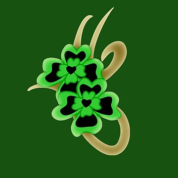 St. Patrick Golden Tribal Iconic Shamrock tattoo by patjila