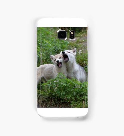 Howling good time - Arctic wolf pups Samsung Galaxy Case/Skin